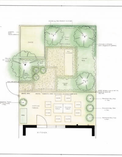 Terraced Garden HQ Plan